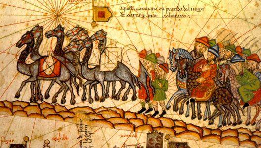 Marco Polo sur la route de la soie, Atlas Catalan, XIVe s., BnF, Paris