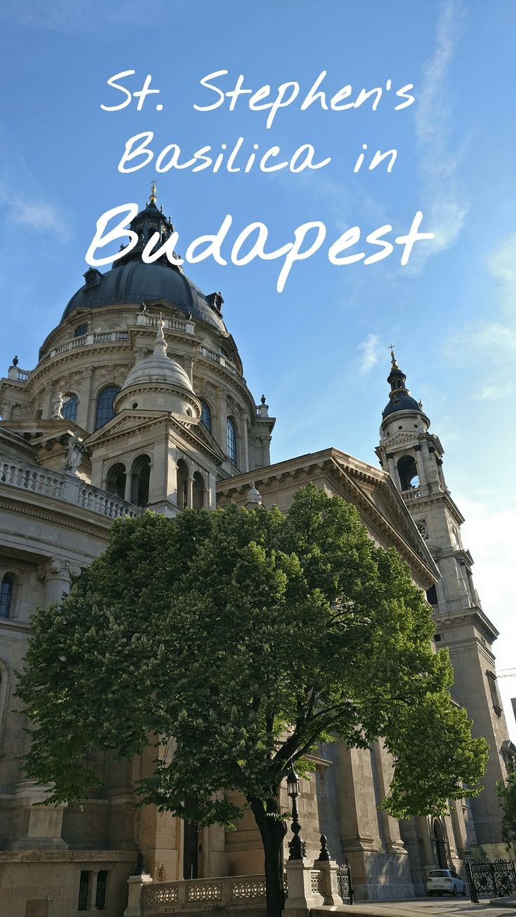 St. Stephen's Basilica (Szent István-bazilika) is the largest church in Budapest. The building dominates the city centre with its 96 height.