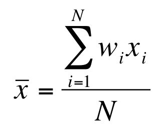 Formula for the weighted Arithmetic Mean