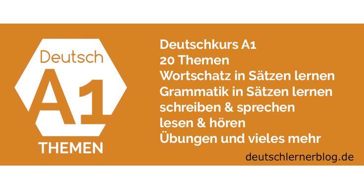 Deutsch lernen A1 nach Themen