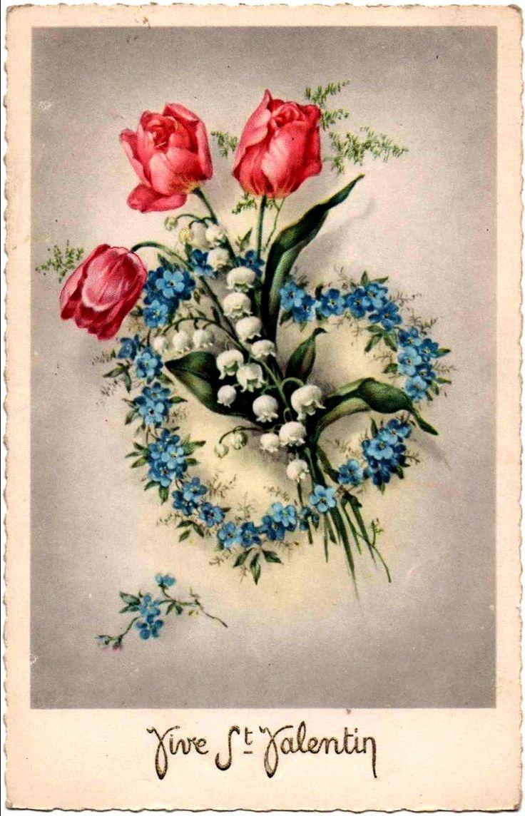 схема открыток на день святого валентина