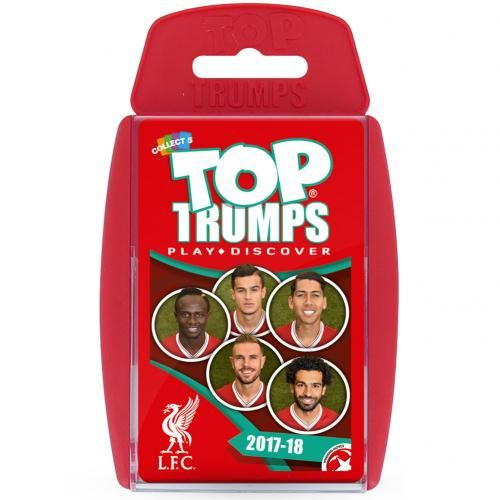 Liverpool FC Edition of the classic card game Top Trumps featuring member of the current 2017/18 team. FREE DELIVERY ON ALL OF OUR GIFTS