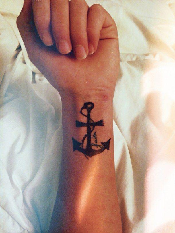 anchor, anchor tattoo, cross tattoo, i want, tattoo, wrist tattoo