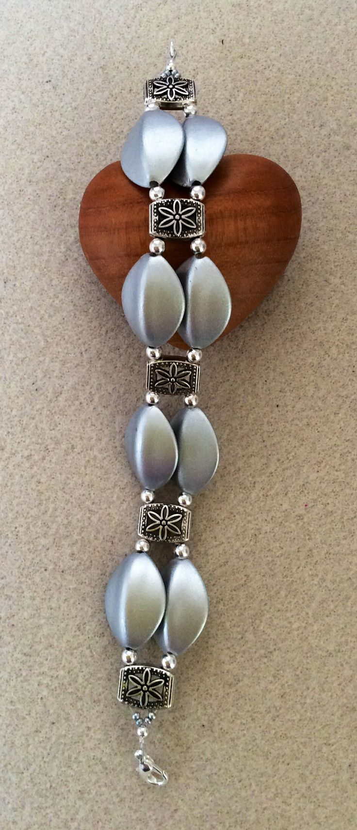 Lovely silver beads with antique silver spacers, www.facebook.com/honeyandginger.1