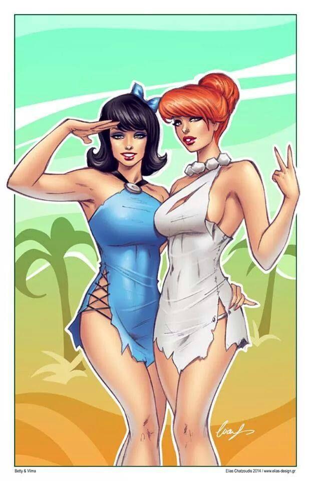 Betty Rubble and Wilma Flintstone