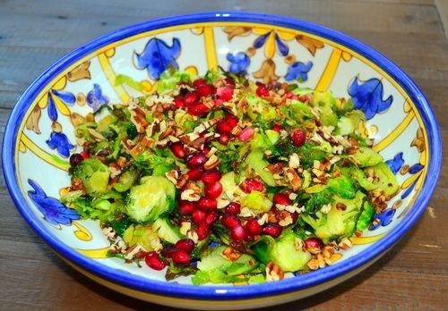 Brussel spouts pomegranate salad