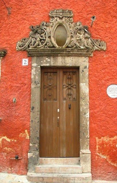 Deep blood orange facadeThe Doors, Grand Entrance, Colors, Beautiful Doors, Doors Frames, Entrance Doors, Wooden Doors, Blood Orange, Wood Doors