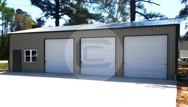 Clear Span Garage With Side Entry 30x51 Garage Building Garage Doors Garage Door Styles Garage Door Design