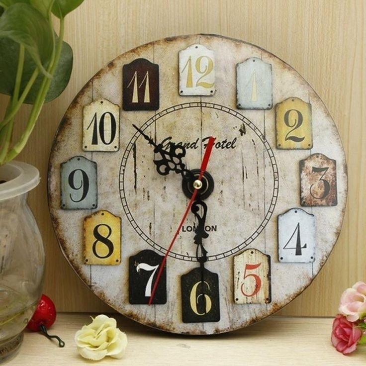 Shabby Chic Wall Clock 113 best wooden