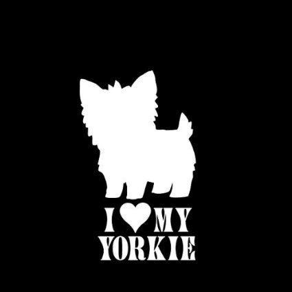"""I Love My Yorkie #1 Dog Car Window Decal Sticker 5"""" : Amazon.com : Automotive"""