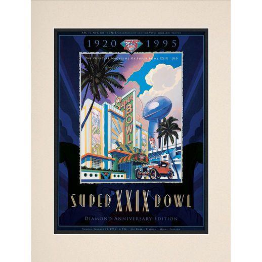 "Fanatics Authentic 1995 49ers vs. Chargers 10.5"" x 14"" Matted Super Bowl XXIX Program"