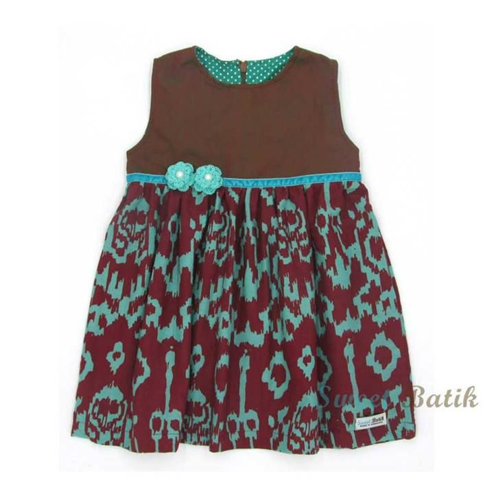 Adorable hand-stamped hand-dyed girl dress from Sweet Batik  #sweetbatik #dress #kids_clothes #batik