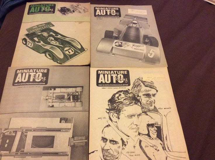 six issues MINIATURE AUTO RACING NEWSPAPERMAGAZINE 1972/1973 HO