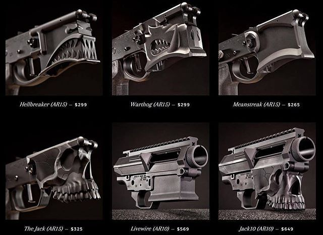 Decisions, decisions...some variant flare forms for the same gun. The AR lineup.