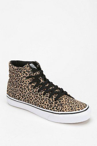 Trendy Womens Sneakers : Vans Sk8 Leopard Women's High-Top Sneaker