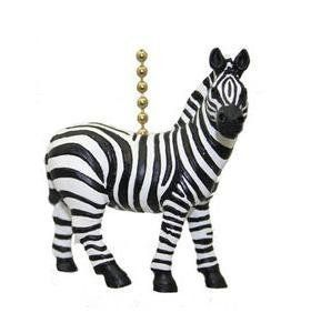 African Safari Plains Zebra Stripes Ceiling Fan Light Pull by Clementine Designs. $9.40. 3D Resin. Approximately 2 inches. Attached 6-inch 18k-gold plated chain and connector. African Safari Plains Zebra Stripes Fan Light Pull