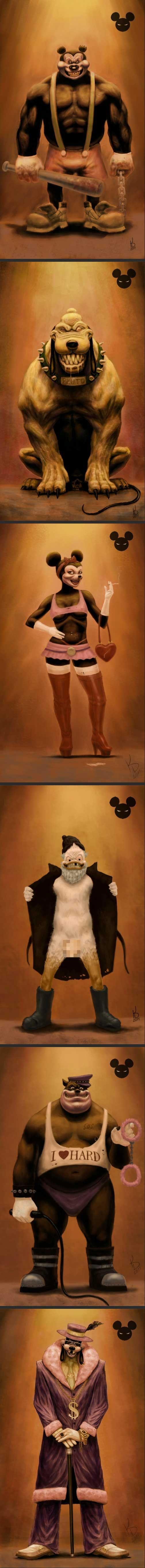 If Disney characters were bad - Walt would be turning in his grave if he saw this