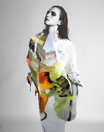 Mixed Media Collage by Matt Wisniewski - Futur couture