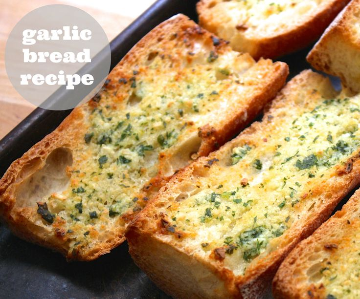 I am pretty proud of this garlic bread recipe. I had to play with it a little bit, but the flavors are spot on now! :DI'm starting to think all sandwiches might need to be made using this garlic bread.(brb going to go google garlic bread sandwiches)