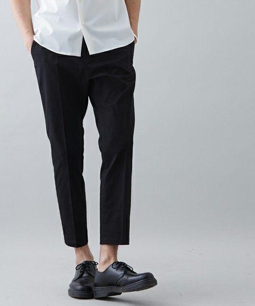 【ZOZO限定】STUDIOUS テーパードアンクルカットチノ(チノパンツ)|STUDIOUS(ステュディオス)のファッション通販 - ZOZOTOWN