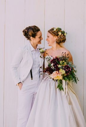Find out budget wedding tips and hints. Lesbian Wedding Photos, Lgbt Wedding, Wedding Attire, Wedding Dresses, Lesbian Wedding Photography, Womens Wedding Suits, Engagement Photography, Lesbian Engagement Pictures, Best Wedding Photographers