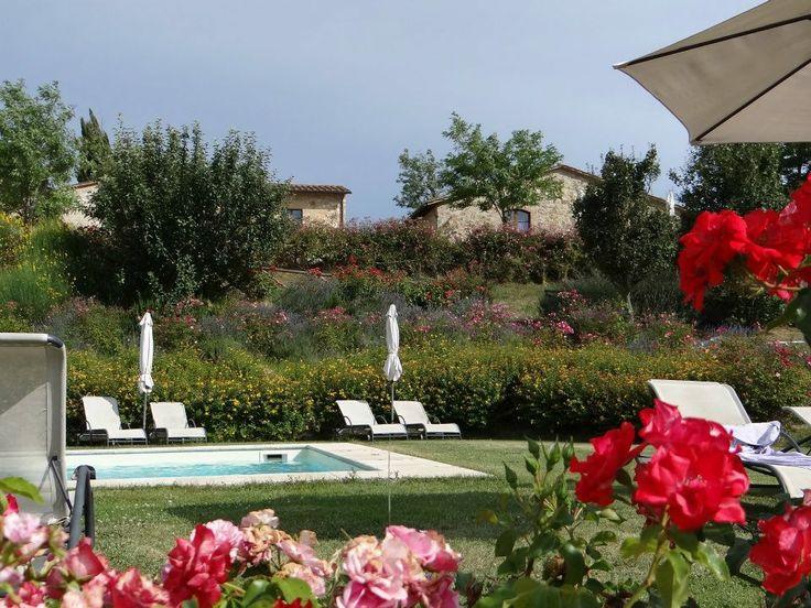 La piscina dell'agriturismo romantico Taverna di Bibbiano tra Siena e San Gimignano, ideale per la vostra Luna di Miele in Toscana
