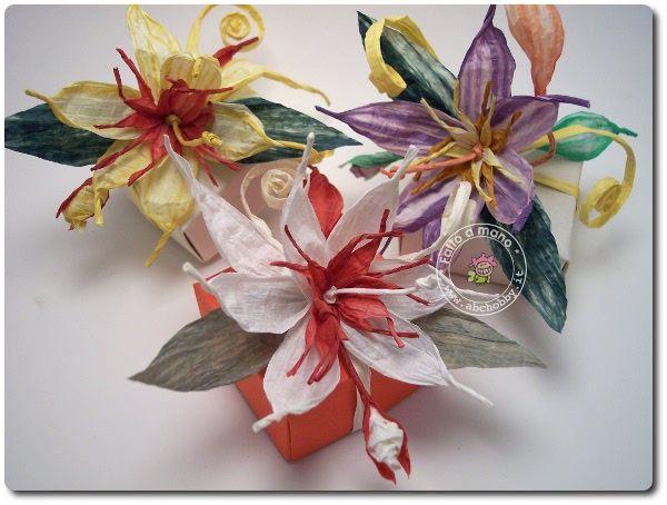 Scatola origami con fiore pirkka twistart come decorazione