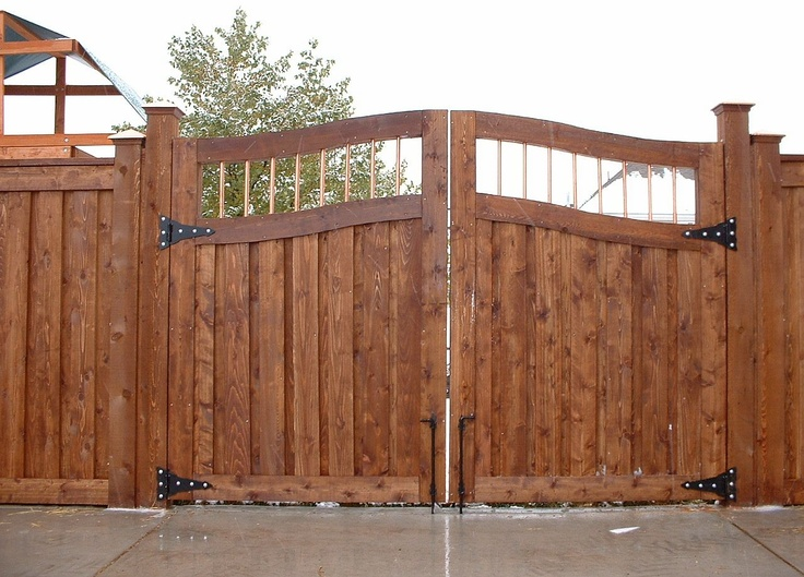 look how elegant this double gate looks i love the rustic look it has