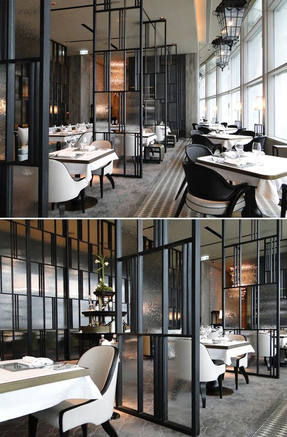 The French Window_Restaurants_Hong Kong_by ABConcept_Modern_Feature Metal +  Glass Dividers:
