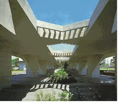 Central Florida Travel: Florida Southern College - Frank Lloyd Wright architecture throughout the campus. Very interesting place to visit - Lakeland, Florida