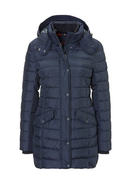 first b wintermantel damen blau