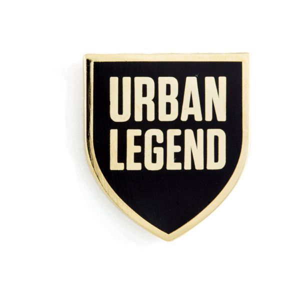 Urban Legend Pin ($10) ❤ liked on Polyvore featuring jewelry, brooches, pin jewelry, pin brooch and urban jewelry
