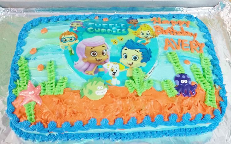 Bubble Guppies Edible Cake or Cupcake Toppers - Choose ...