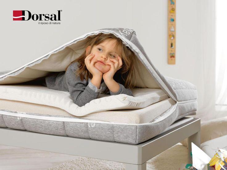 Play di #Dorsal: il primo #materasso pensato per #bambini in crescita dai 4 ai 14 anni, rivestimento in Green Cotton