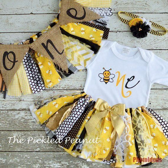 Bumble Bee 1 Geburtstag Madchen Outfit 1 Geburtstag Outfit Baby