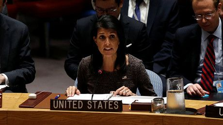 "'Scorpion & frog': Haley uses fable to blast Iran as UN & EU say Tehran complies with nuclear deal https://tmbw.news/scorpion-frog-haley-uses-fable-to-blast-iran-as-un-eu-say-tehran-complies-with-nuclear-deal  US Ambassador to the United Nations Nikki Haley got creative in attacking Iran over its alleged lack of compliance with the nuclear deal, calling it a ""scorpion"" which can't help stinging. This is despite the UN and EU saying Iran honors the agreement.""Today's meeting of the Security…"