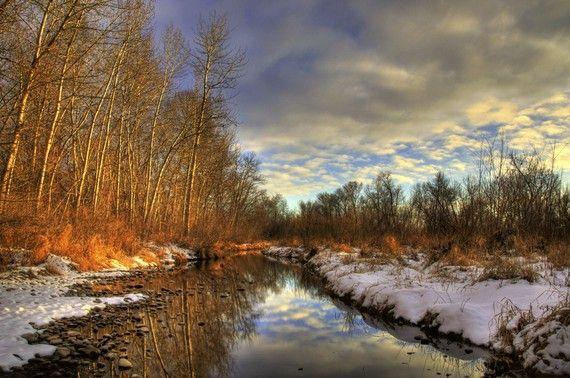 Boise River Winter Sunset by Daveidaho on Etsy, $5.00