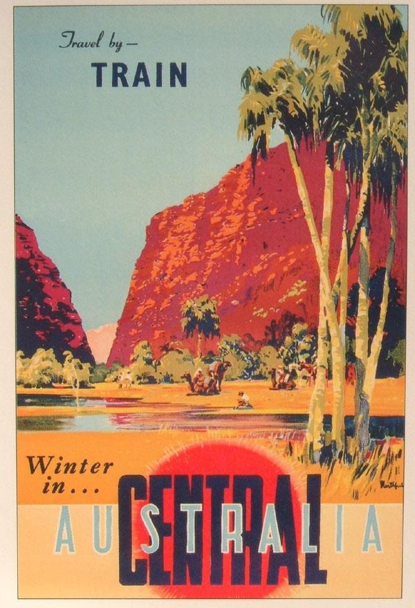 vintage australian poster | central australia