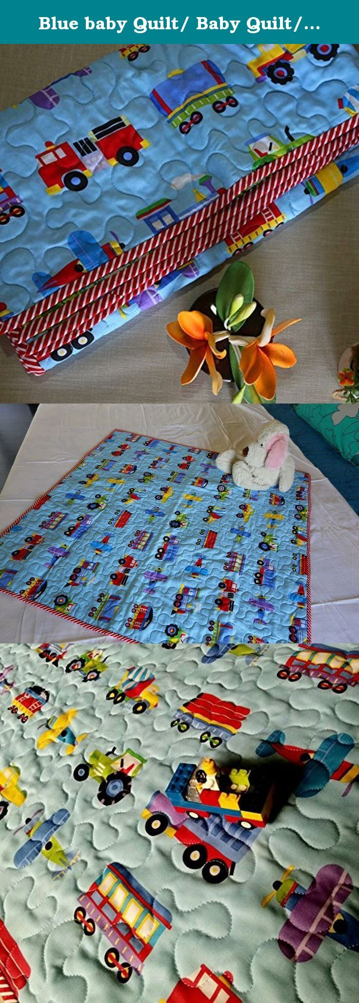 Baby quilts bed covers - Blue Baby Quilt Baby Quilt Vehical Quilt Cars Quilt Baby Shower Gift