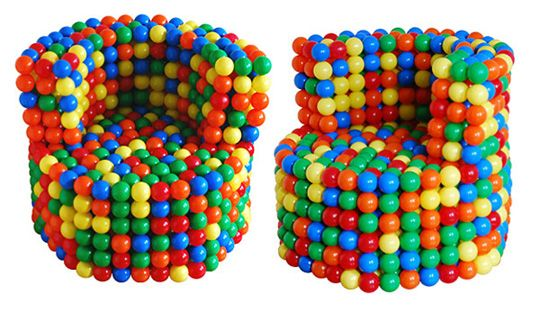 ball pit chairs. Absolutely LOVE these for a kids room!