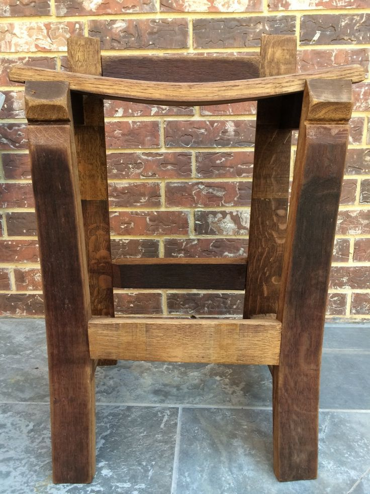 A stool made from a wine barrel