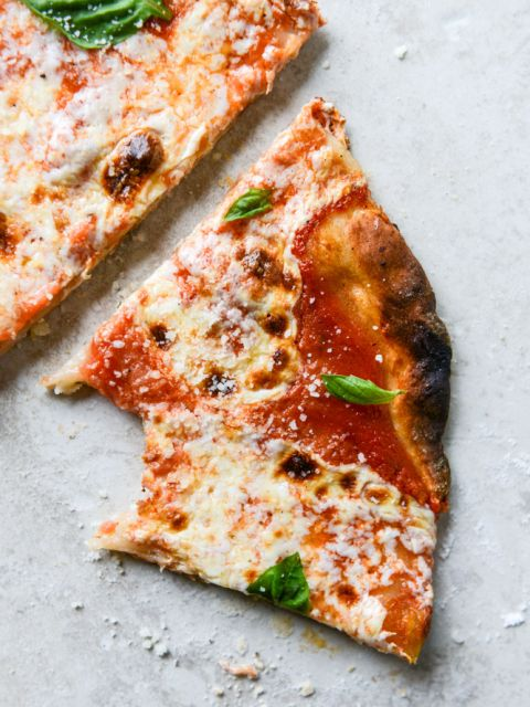 thin crust pizza: Phenomenal pizza recipe! The crust is the best thin crust pizza I've ever had. Take out pizza aint got nothin on this