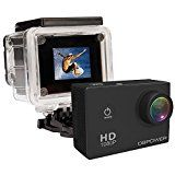 #10: DBPOWER 12MP 1080P HD Waterproof Action Camera with 2 Batteries and Accessories Kit Black http://ift.tt/2cmJ2tB https://youtu.be/3A2NV6jAuzc