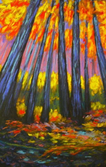 wolf kahn landscape for chalk pastel lesson