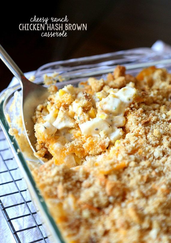 Cheesy Ranch Chicken Hash Brown Casserole