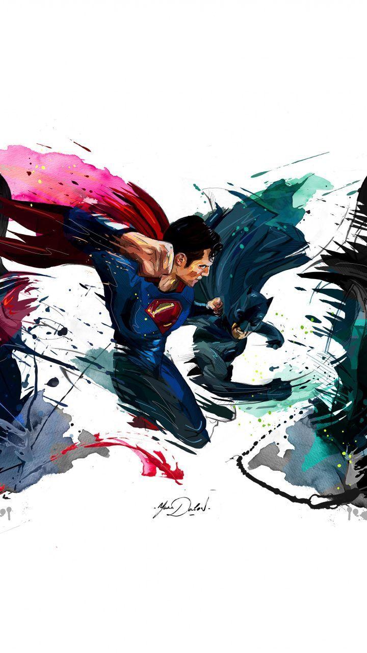 Fearsome Wallpaper Batman Vs Superman 4k Sketch Artwork 720