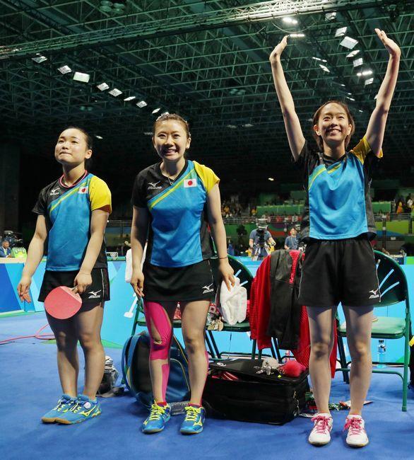 リオデジャネイロ五輪・卓球女子団体準々決勝で…:卓球女子 石川佳純 写真特集:時事ドットコム