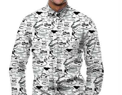 """Check out new work on my @Behance portfolio: """"Grey Camouflage Pattern Design"""" http://be.net/gallery/49517965/Grey-Camouflage-Pattern-Design"""