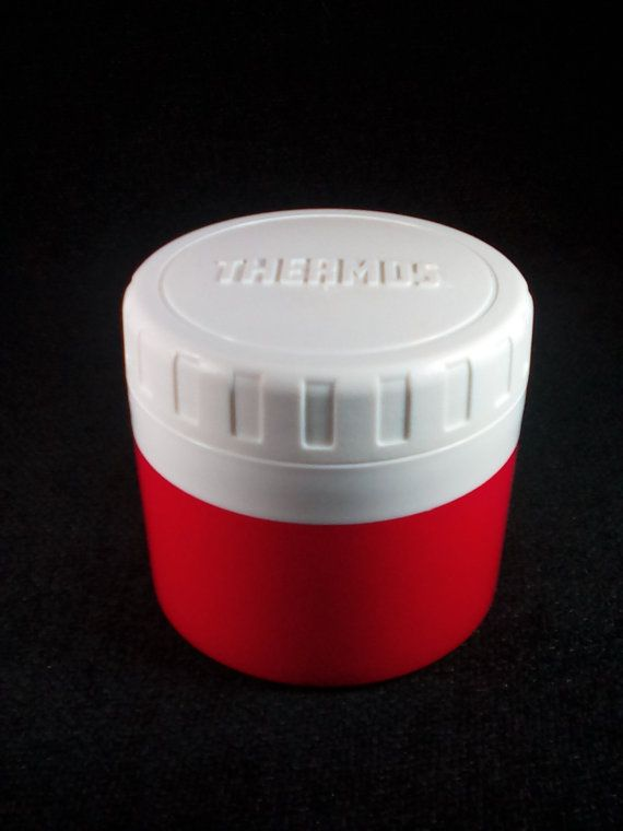 Vintage King Seeley Thermos Insulated Jar, Model 1155/4, Red and White, Thermos Food Container, Thermos Food Jar, Thermos Soup Container