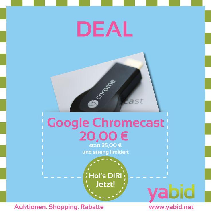 #Deal : Brandneuer Google Chromecast. Zum streamen auf den Smart TV für nur 20,00 € statt 35,00 €. Streng limitiert auf www.deal.yabid.net Yabid Hol's dir wann DU willst!  (Bild: EricaJoy; https://www.flickr.com/photos/ericajoy/9366309711/  CC License)